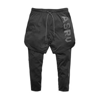 Men's black running shorts Ankle-Length Pants Plus Size XXXL