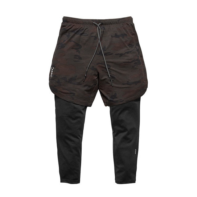 Men's black camouflage running shorts Ankle-Length Pants Plus Size XXXL