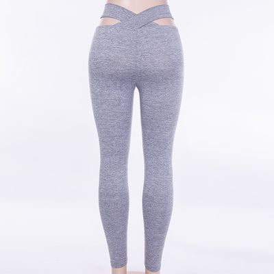 Gray Skinny Dry Quick Stretchy Workout Push Up Leggings