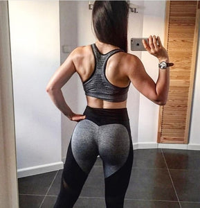 Black Plus Size XXXL Women Fitness Heart Shape Seamless Leggings
