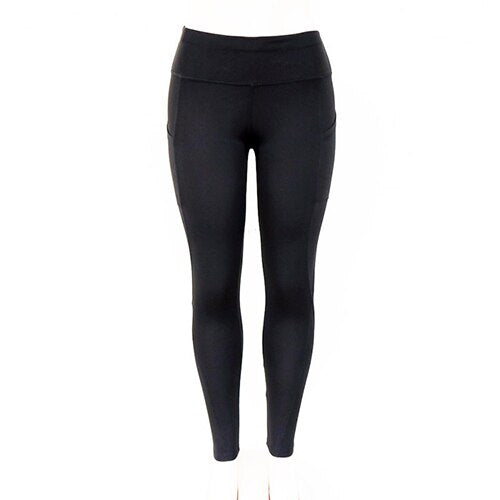 Women's pretty high waisted black yoga pants