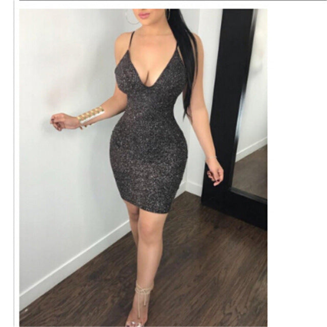 Women Bodycon Slim Short Mini Cocktail Party Pencil Dress