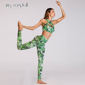 2019 Hot Floral Printed Sports Suit Gym