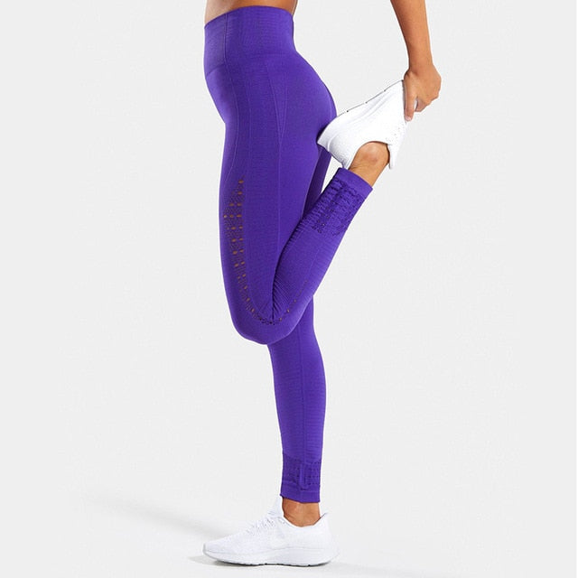 Sport women high waist push up yoga legging scrunch butt pants