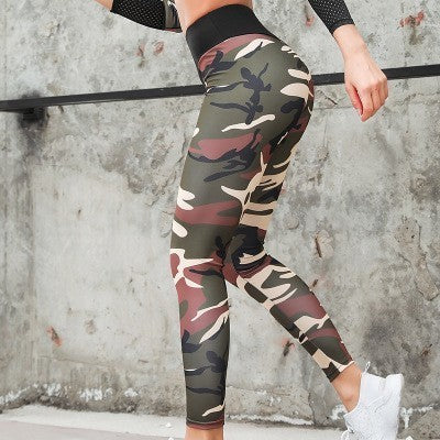 Camouflage Fitness Set 2 Piece Yoga Female Suit