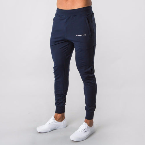 Workout joggers men's plus size XXL- navy blue & black*-