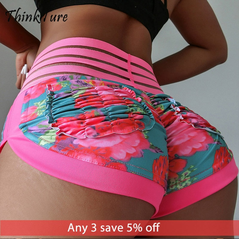 Women's High Waisted Workout Shorts With Pockets