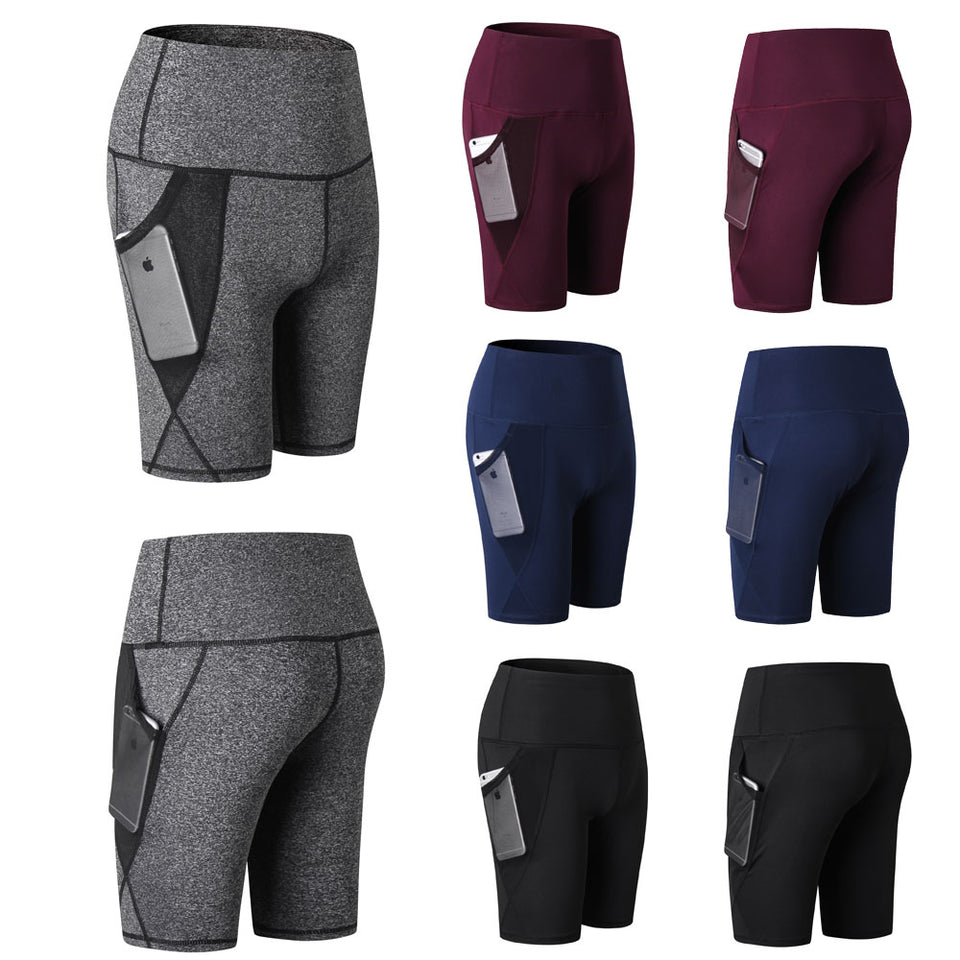Women's running shorts with phone pocket