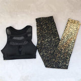 Women Sport Wear Clothes Sporty Leggings 2 Piece Set