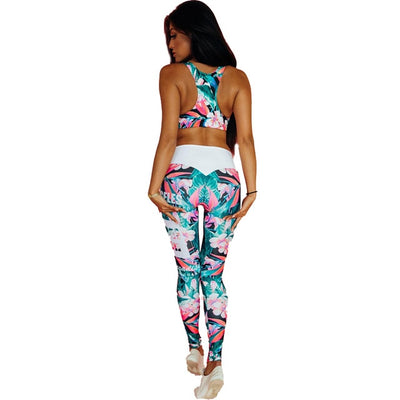 Women Print Yoga Set