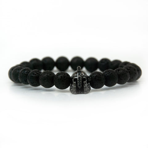 Black lava stone bracelet for man/ woman
