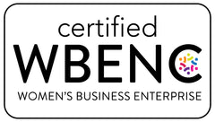The image shows that Watson Bathroom Accessories is a certified woman owned business.  WBENC stands for Women's Business Enterprise National Certification.