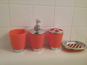 Orange and Silver Bathroom Accessory Set - watson-bathroom-accessories