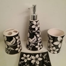 Load image into Gallery viewer, White Orchids Bathroom Accessory Set