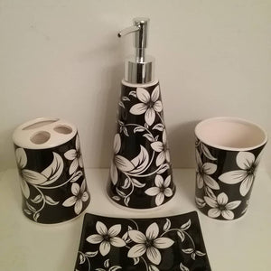 White Orchids Bathroom Accessory Set