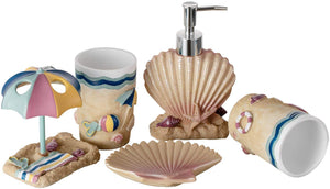 Children's bathroom accessory set.  Beach style