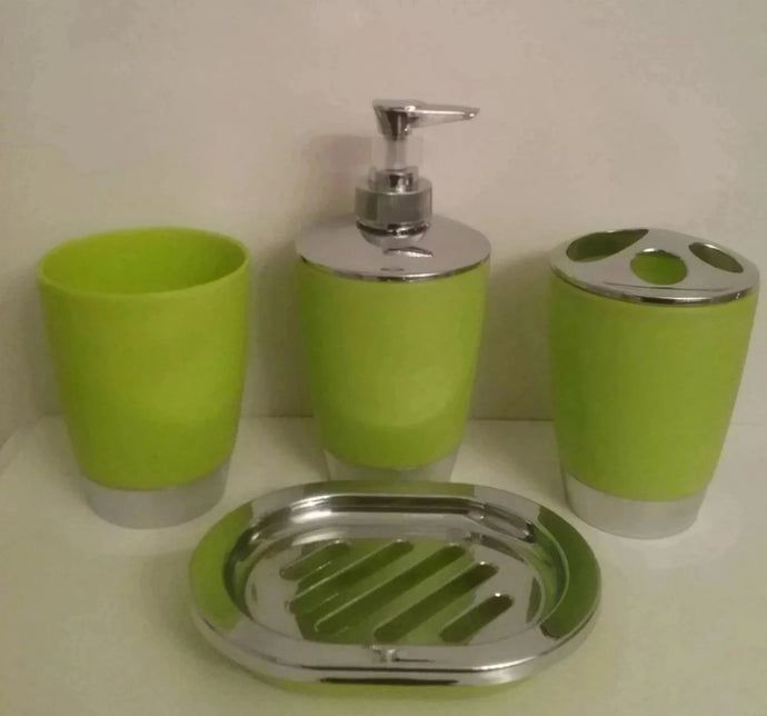 Lime Green Bathroom Accessory Set - watson-bathroom-accessories