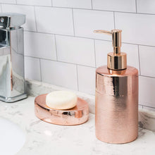 Load image into Gallery viewer, Textured Rose Gold Ceramic Bathroom Set