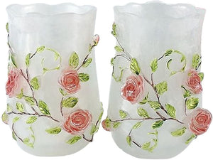 Pink Roses Bathroom Accessory Set