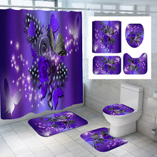 Load image into Gallery viewer, Purple Shower Curtain Set