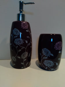 Purple Bathroom Accessory Set