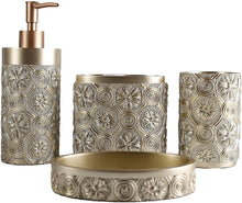 Load image into Gallery viewer, Gold Bathroom Accessory Set