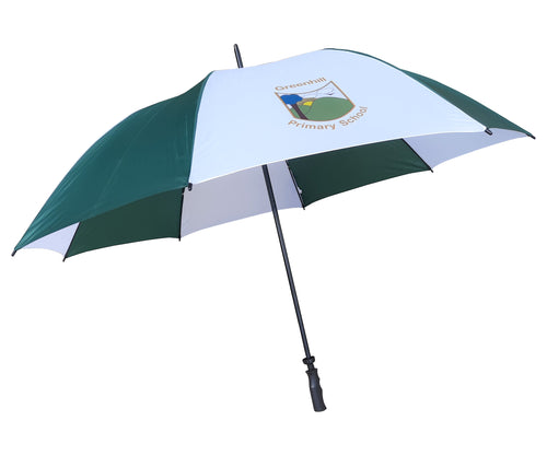 Muirfield Golf Umbrella with full colour print on white panels. As low as £6.75.