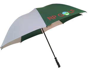 Muirfield Umbrella with a full colour print on any panel. As low as £7.75.
