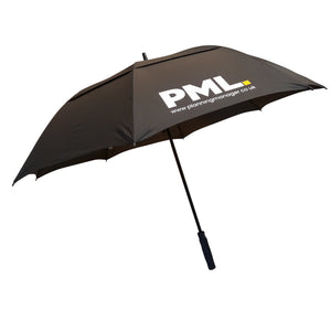 Ebony Double Canopy Vented Automatic Opening Umbrella printed single colour from £15.99 each