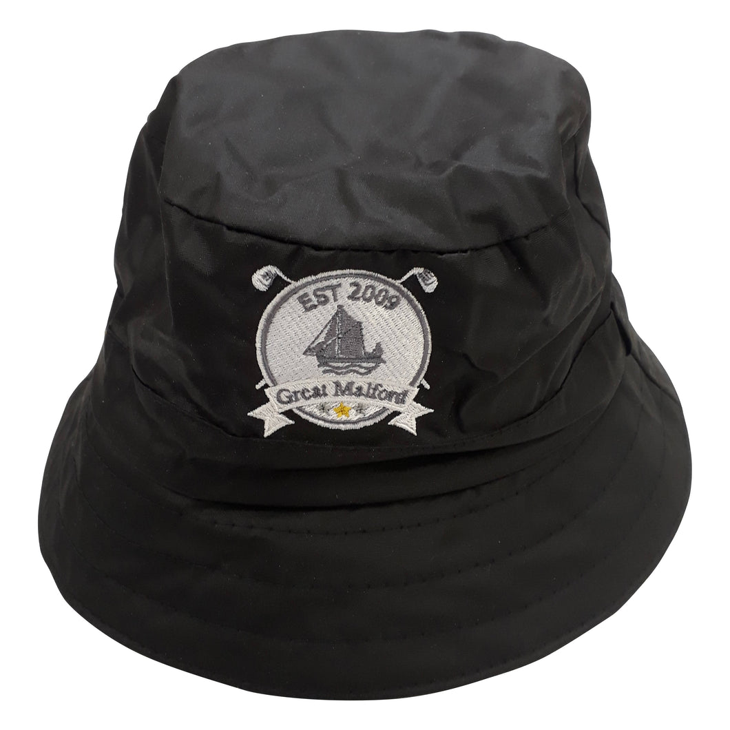 Black Waxed Rain Hat