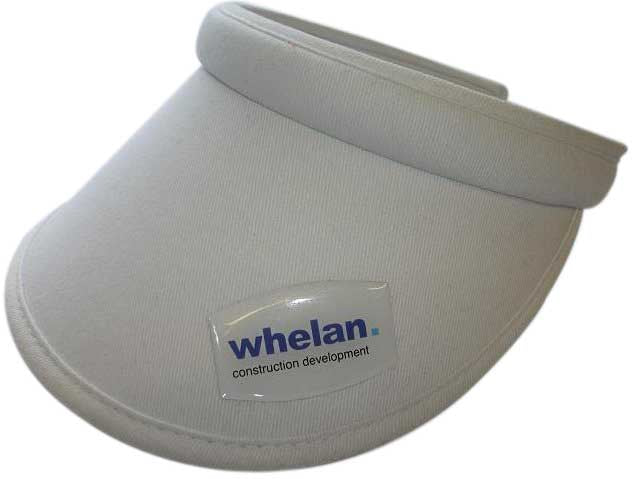 Ladies Push On Visor With Personalised Dome Plaque
