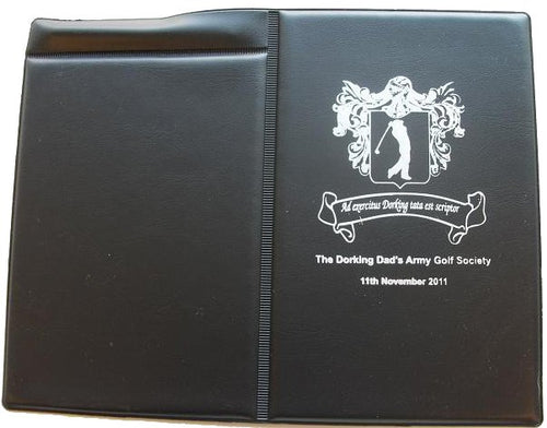 PVC Golf Score Card Holder Foil Blocked Logo or Crest