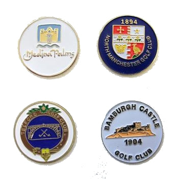Troon Soft Enamel Golf Ball Marker.