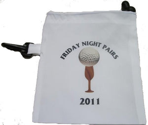 White Drawstring Golf Goody Bag