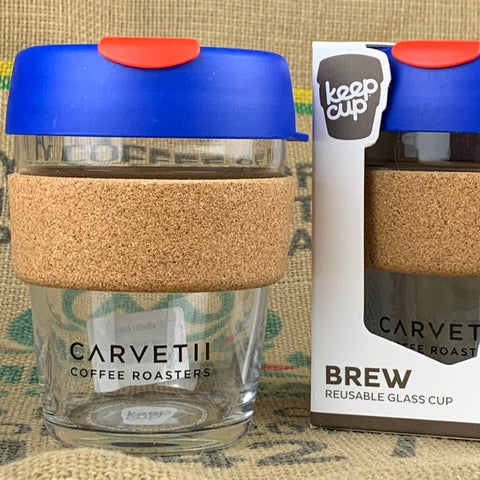 Carvetii Branded 12oz Brew Cork KeepCup Royal Blue