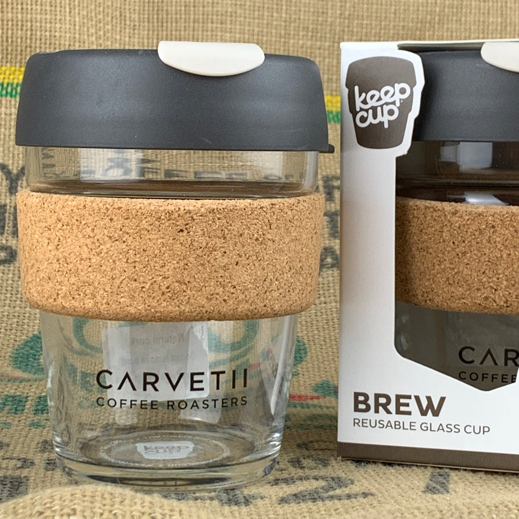 Carvetii Branded 12oz Brew Cork KeepCup Press