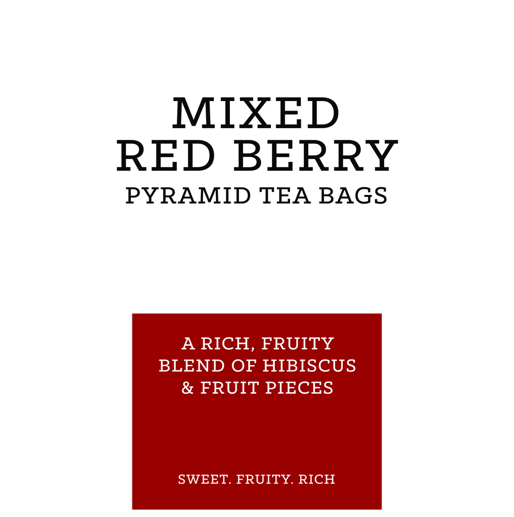 Mixed Red Berry Pyramid Tea Bags (pk 15)