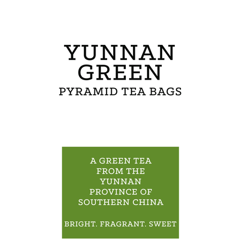 Yunnan Green Pyramid Tea Bags (pk 15)