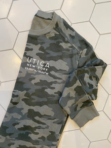 Utica Ladies Camo Crewneck