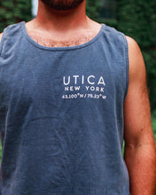 Load image into Gallery viewer, Utica Washed Blue Tank