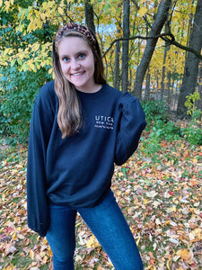 Unisex Utica Black Fleece Crewneck