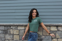 Load image into Gallery viewer, Ladies Utica Green Crop T-shirt