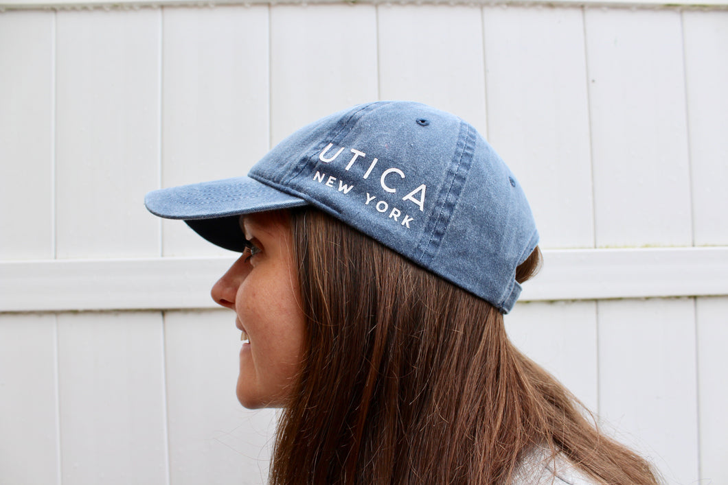 Utica Washed Blue Hat