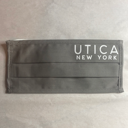Utica Light Gray with White Text Mask