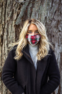 Utica Holiday Plaid Mask