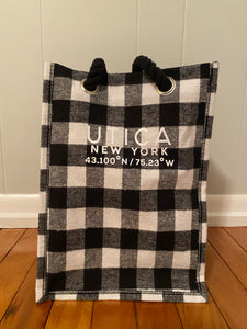 Black and White Checkered Drink bag (holds 4)