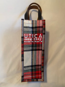 Individual Utica Holiday Plaid Wine Bag