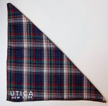 Load image into Gallery viewer, Utica Plaid Dog Bandana (Medium to Large dogs)