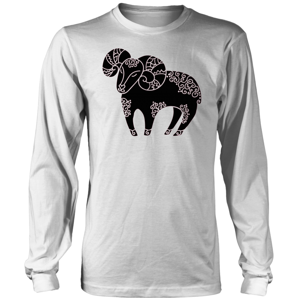 Aries The Ram Aries Zodiac Symbol Astrology Sign T Shirt Teepaly