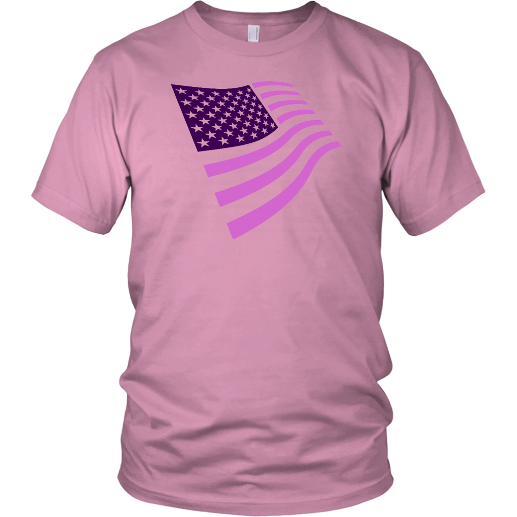 Usa Pink And Purple Stylized American Flag July 4Th Patriotic T Shirt